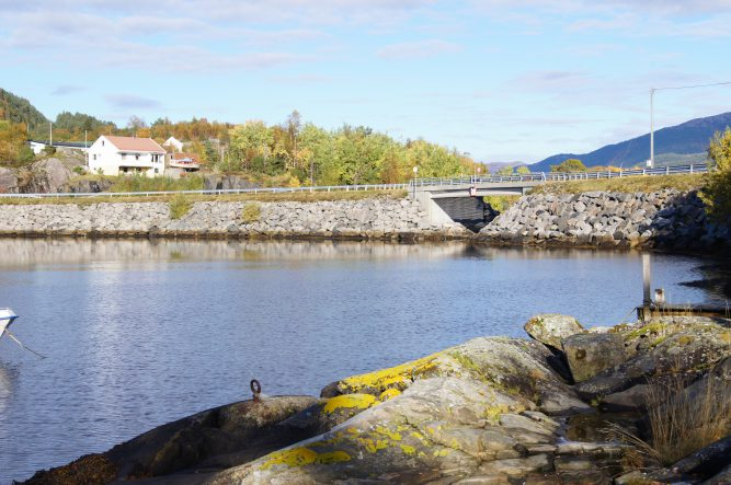 Fra området for småbåthavn på nordvestsiden av Duesundøy.