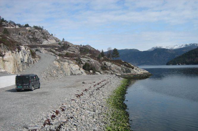 Fra naustområdet på sør sørøstsiden av øyen.