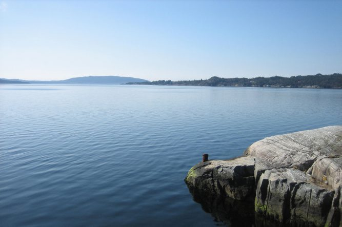Fra sørvestsiden av Duesundøy.